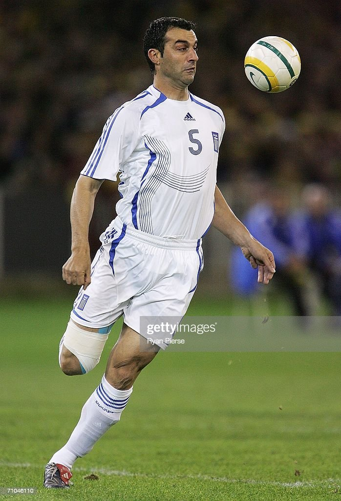 Tranos Dellas of Greece in action during the Powerade Cup international friendly match between Australia and Greece at the Melbourne Cricket Ground May 25, 2006 in Melbourne, Australia.