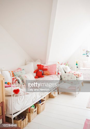 Tranquil childs bedroom : Stock Photo