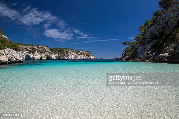 Tranquil coastal bay, Cala Macarelleta, Menorca, Spain