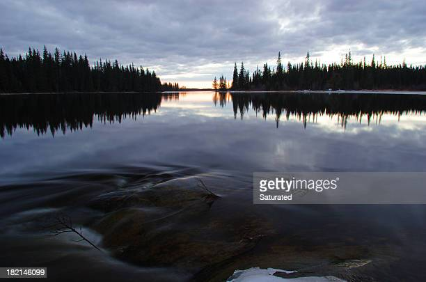 Apacible lago Manitoba