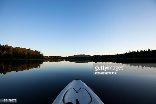 Tranquil Morning on the Lake in a Kayak