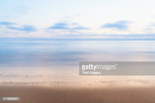 Tranquil sea, Encinitas, California, USA : Stock Photo
