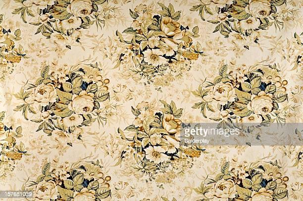 Tranquility Medium Antique Floral Fabric