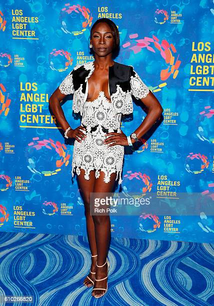 Trans activist Angelica Ross attends the Los Angeles LGBT Center 47th Anniversary Gala Vanguard Awards at Pacific Design Center on September 24 2016...