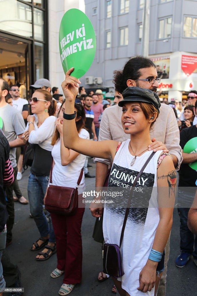 Trans orgullo Istanbul 2015 : Foto de stock