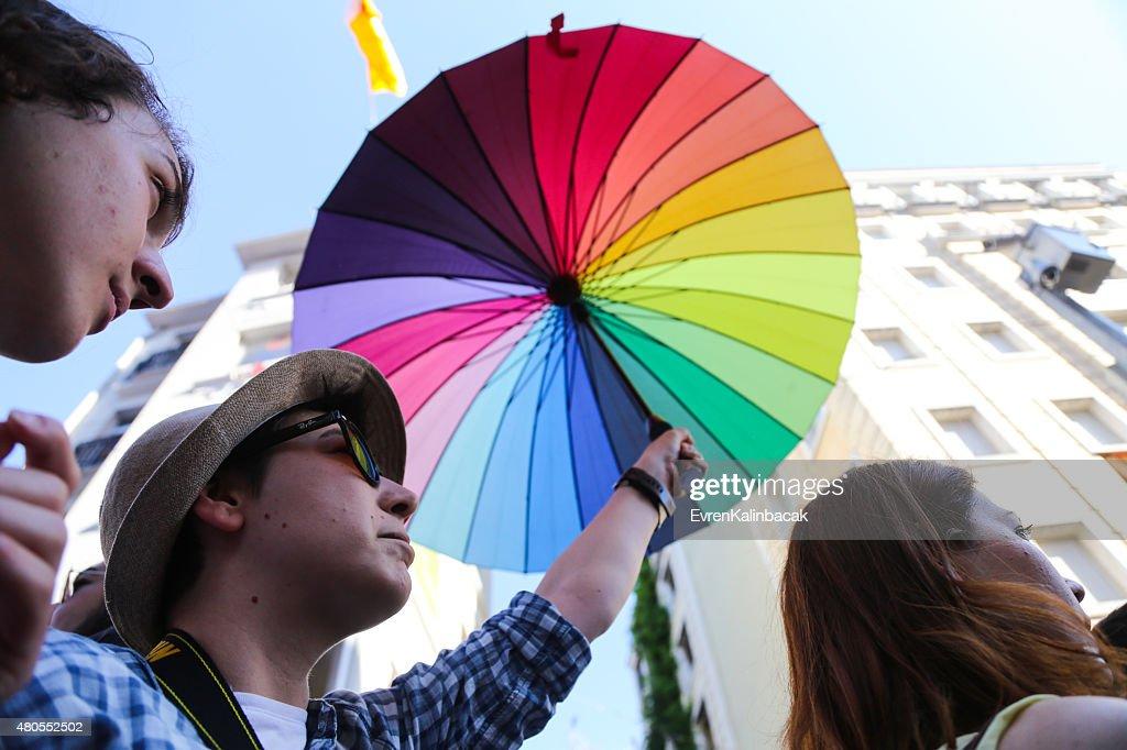 Trans orgulho Istambul de 2015 : Foto de stock