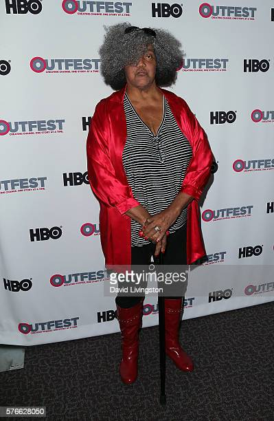 Trans woman activist Miss Major GriffinGracy attends the Outfest 2016 Screening of 'The Trans List' at the Director's Guild of America on July 16...