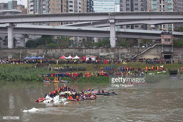 TransAsia Airways flight GE235 crashed soon after takeoff from Songshan Airport The ATR72 airplane carrying 53 passengers and 5 crew went down in the...