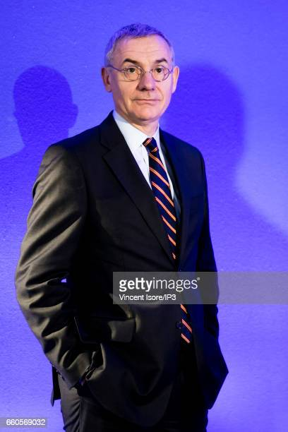 Transdev CEO Thierry Mallet attends a press conference of La Caisse des Depots which announces its 2016 annual results on March 30 2017 in Paris...