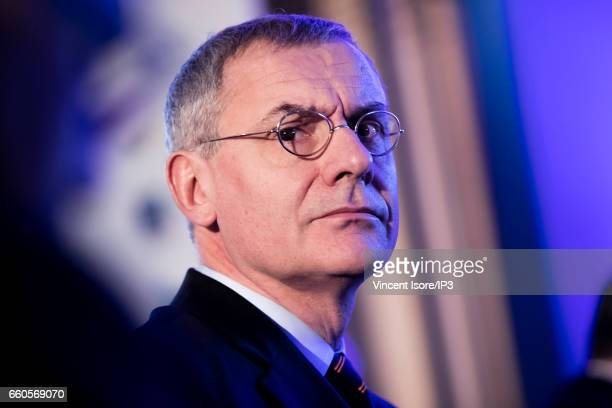 Transdev CEO Thierry Mallet attends a press conference of The Caisse des Depots which announces its 2016 annual results on March 30 2017 in Paris...
