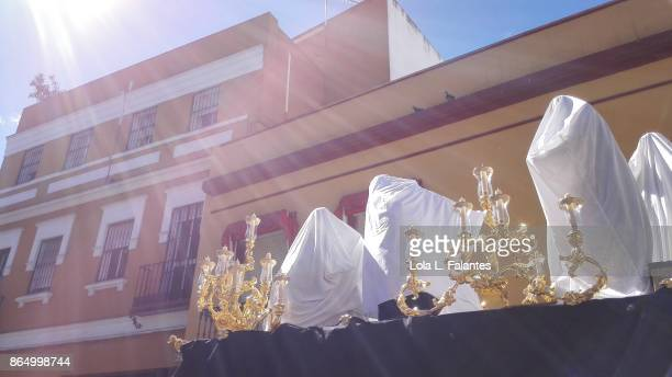 Transfer  of 'pasos ' prior of holy week celebration in Seville