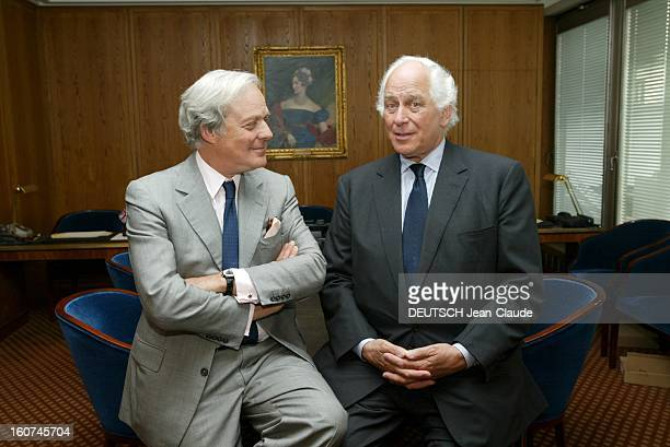 Transfer Of Power At Rothschild David DE ROTHSCHILD succède à sir Evelyn DE ROTHSCHILD à la tête de la banque londonienne les deux hommes dans les...
