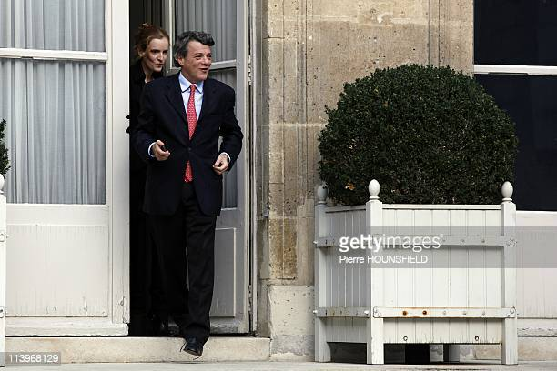 Transfer of Power between Jean Louis Borloo and new French Ecology Minister Nathalie KosciuskoMorizet In Paris France On November 15 2010