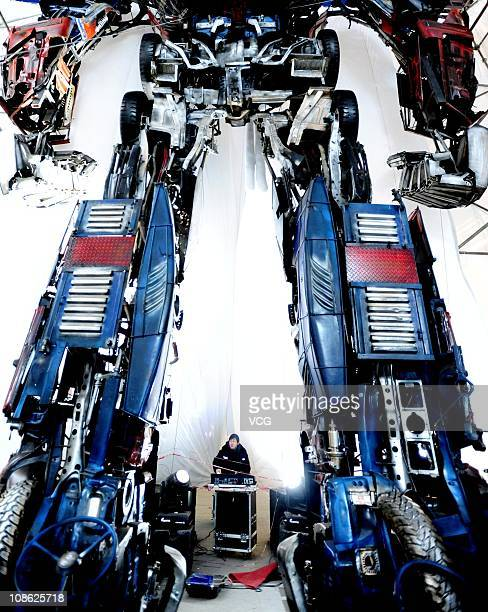 A 'Transformer' is seen on Shenyang Middle street January 30 2011 in Shenyang Liaoning province of China The Transformer is approximately 11m high...
