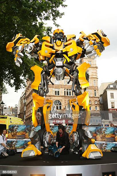 A transformer the UK premiere of 'Transformers Revenge of the Fallen' at the Odeon Leicester Square on June 15 2009 in London England