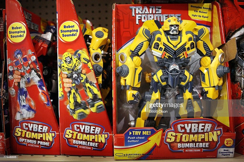 Transformer toy made by Hasbro is offered for sale at a Toys R Us store October 22 2007 in Chicago Illinois Hasbro today reported a 62 percent rise...