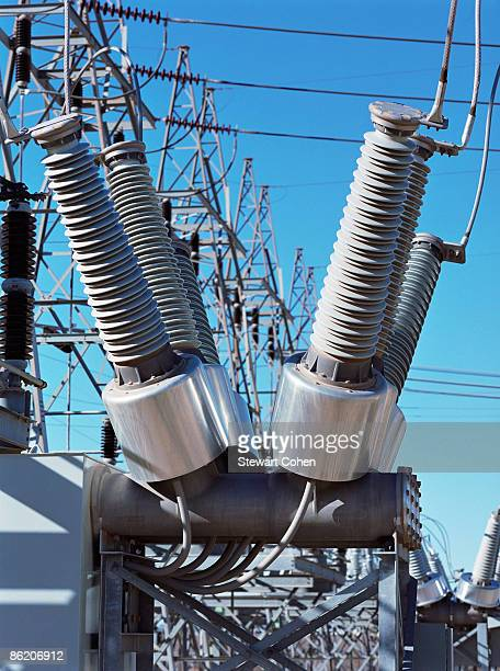 Transformers at electrical substation
