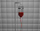 Transfusion bottle of blood (Digitally Generated Image)