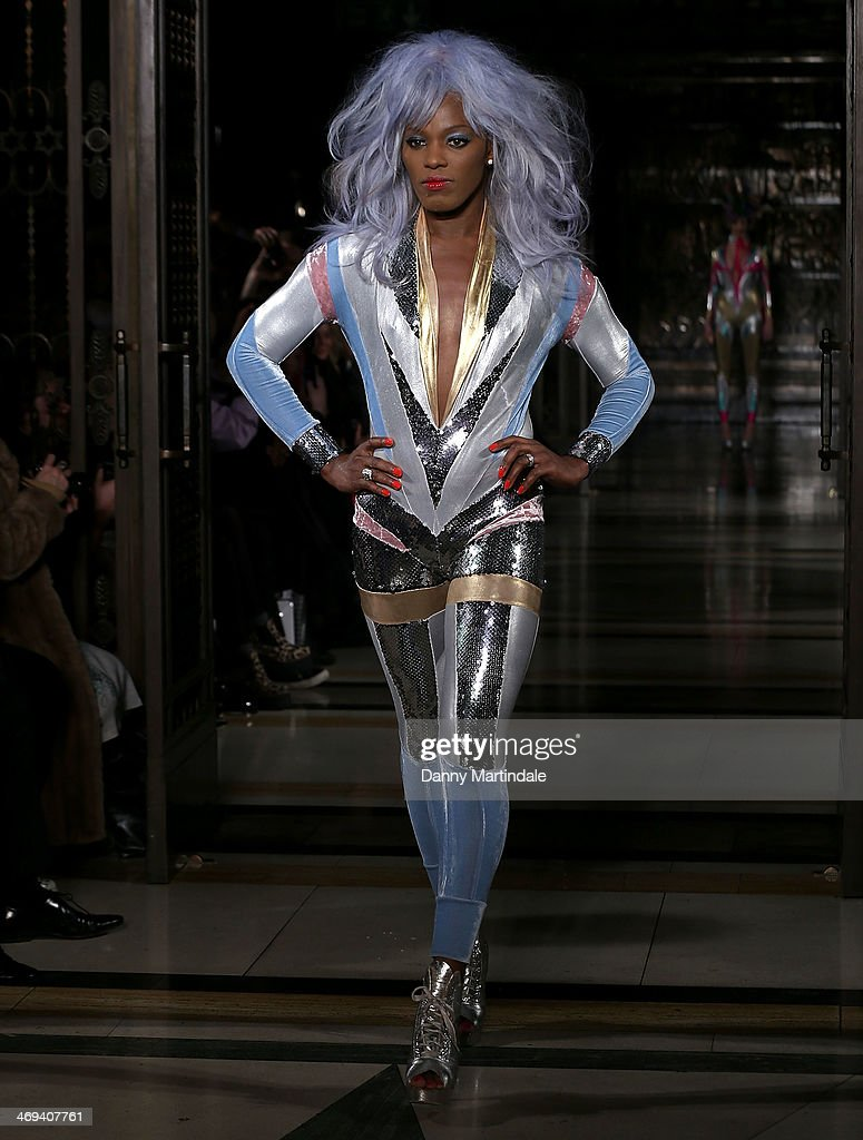 Transvestite runway model