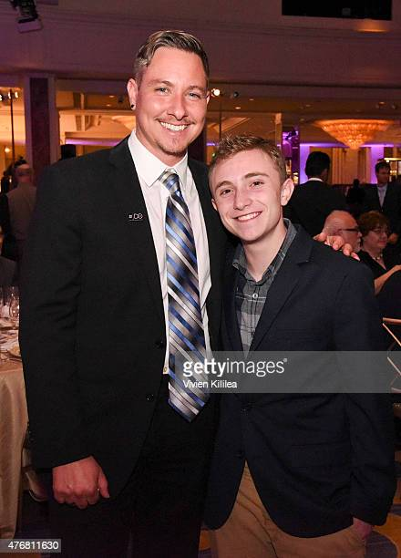 Transgender Rights Project Director Dru Levasseur and Elliot Furst attend the Lambda Legal 2014 West Coast Liberty Awards Hosted By Wendi...
