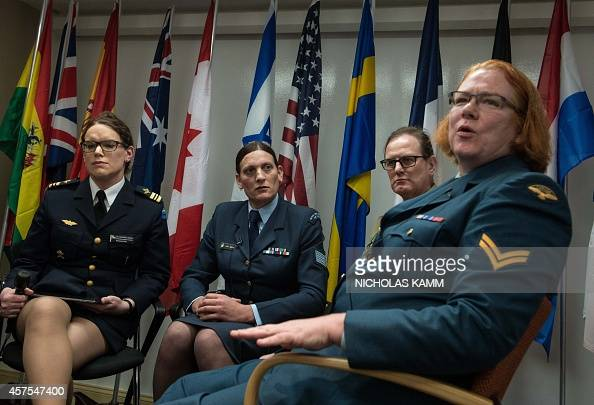 transgenders Major Alexandra Larsson of the Swedish Armed Forces Sergeant Lucy Jordan of the New Zealand Air Force and Major Donna Harding of the...