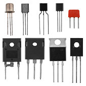 power transistors isolated on a white background