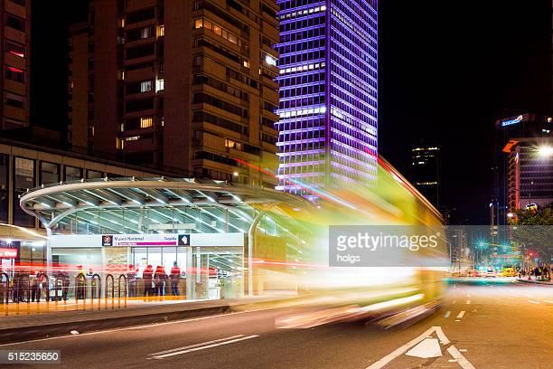 Autocarro TransMilenio sistema, em Bogotá, Colômbia