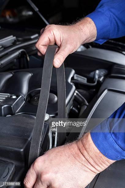 Transmission belt, modern car engine