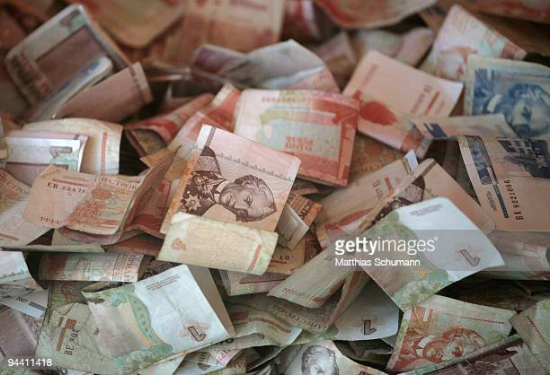 Transnistrian ruble bills seen in a restaurant on October 19 2008 in Tiraspol Moldova Tiraspol is the second largest city in Moldova and is the...