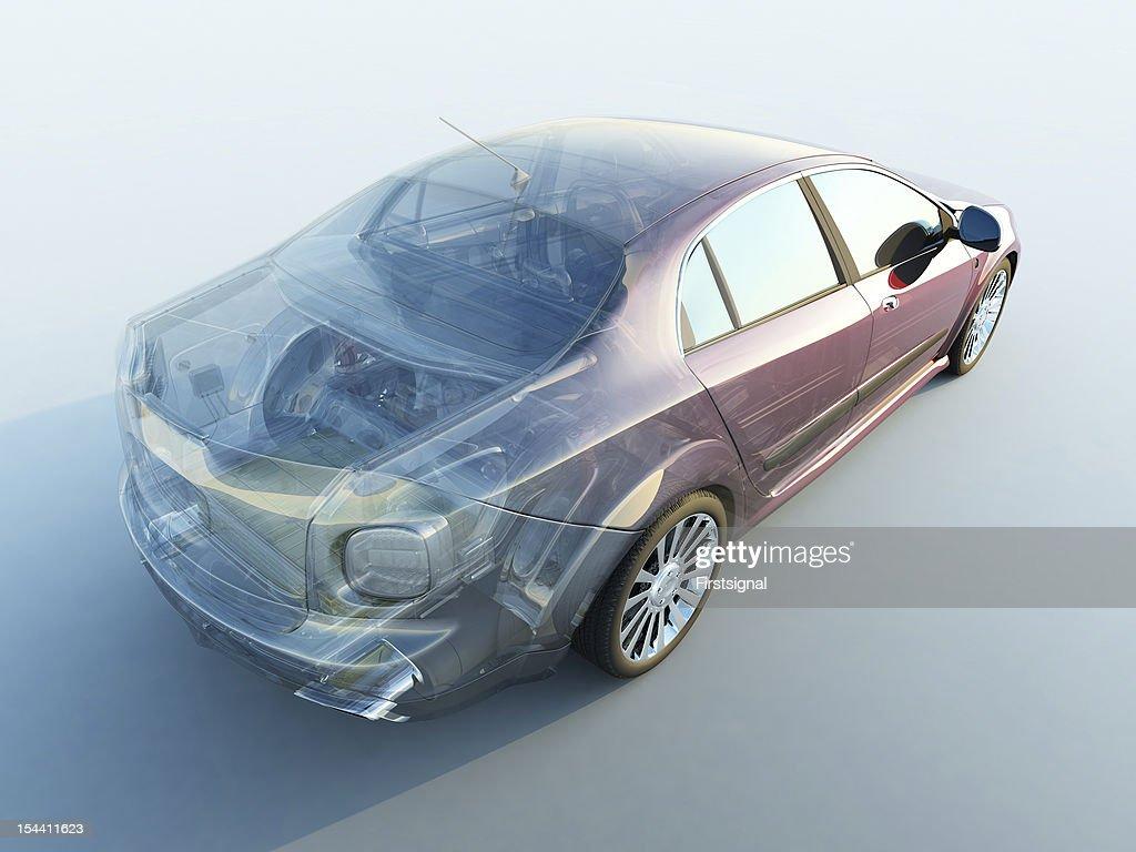 Transparent car : Stock Photo
