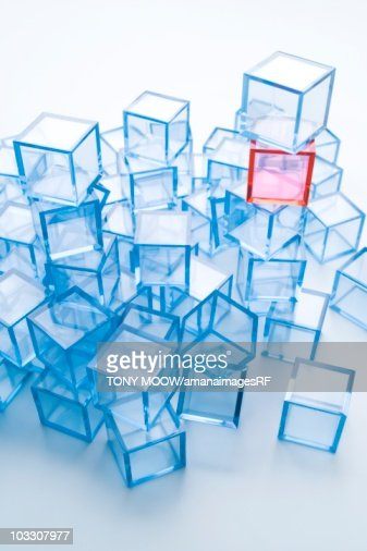 Transparent cubes : Stock Photo