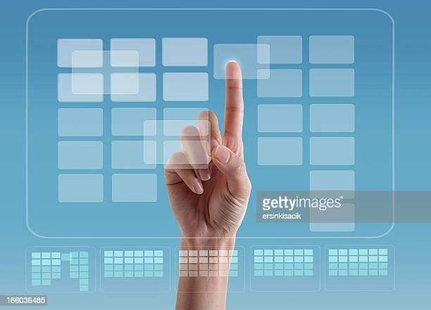 Proyección de pantalla táctil Digital transparente