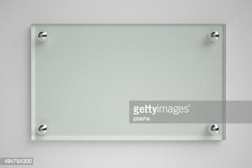 Transparent glass board : Stock Photo