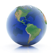 transparent globe 3d illustration