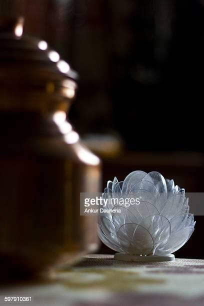 Transparent lotus flower