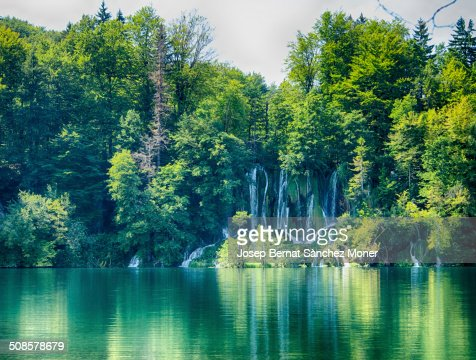 Transparent river in Plitvice, Croatia : Stock Photo