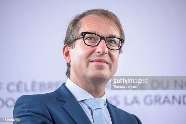 Transport and Digital Technologie Mininister Alexaner Dobrindt pictured at the train station Gare de l'Est on July 23 2015 in Paris France The new...