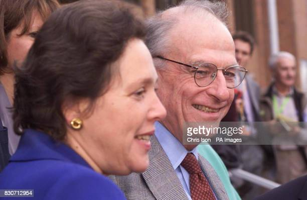 Transport Commissioner for London Bob Kiley at the Liberal Democrat Party's annual conference in Bournemouth with Susan Kramer the former Liberal...