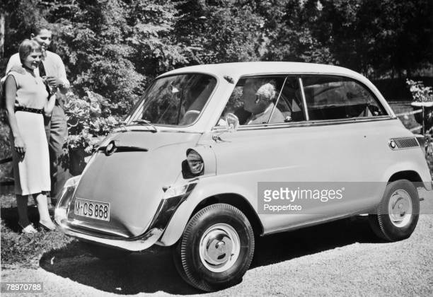 Transport Germany Circa 1950's A BMW 600 small bubble car