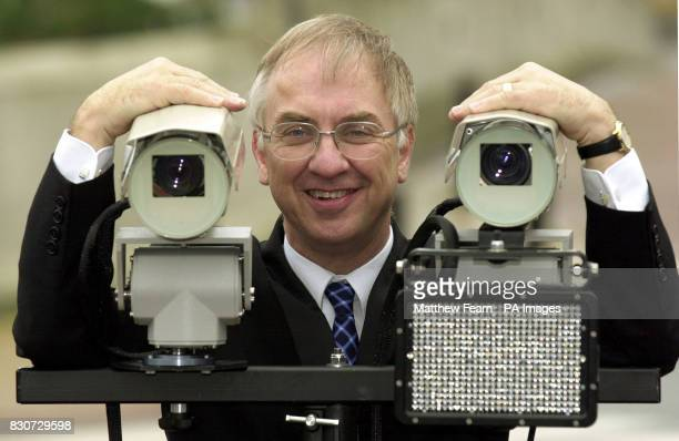 Transport Minister David Jamieson in London launching new Stingray cameras that detect road tax cheats while on the move by reading number plates and...