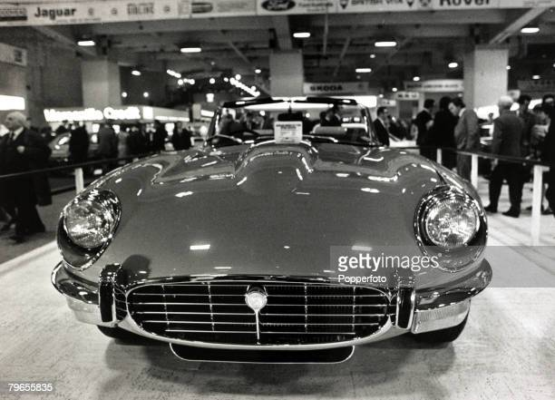 1971 A Jaguar Etype Series 3 at the Earls Court International Motor Show