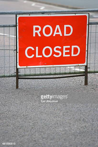 Road closed sign stock photos and pictures getty images