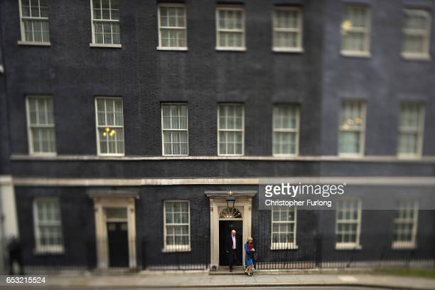 Transport Secretary Chris Graying leaves number 10 Downing Street after a cabinet meeting on March 14 2017 in London England Following a vote in...