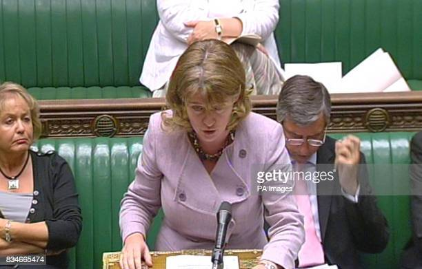 Transport Secretary Ruth Kelly speaks in the House of Commons London on the Gallagher report into the effects of biofuels on food prices and...