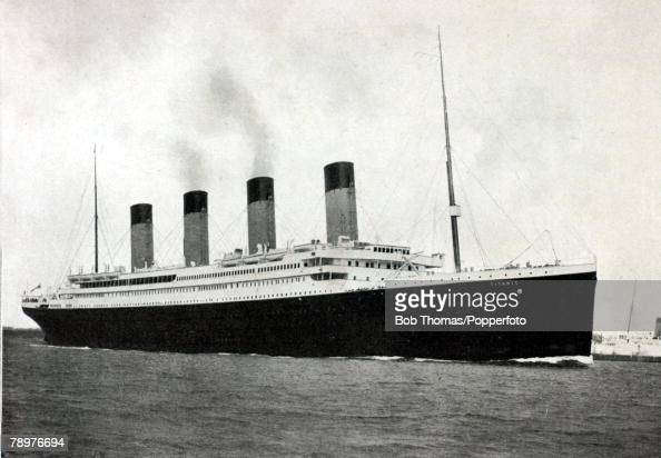 10th April 1912 This illustration shows the White Star liner 'Titanic' leaving Southampton bound for New York The 'Titanic' had left Southampton on...