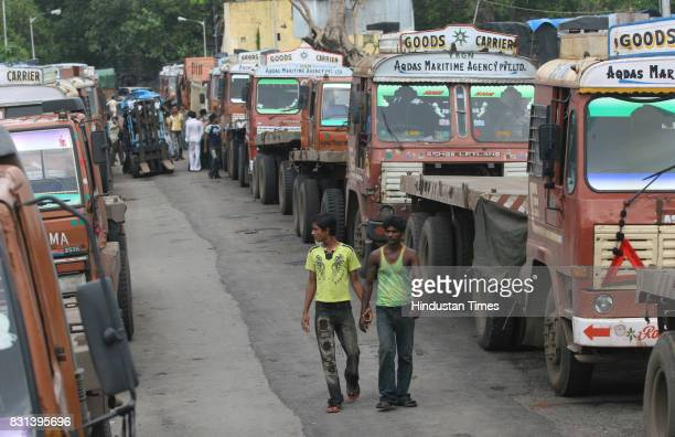 Transport Strike in Mumbai The strike in Masjid Bunder The Strike called in protest against the various levies and taxes toll and diesel pricing