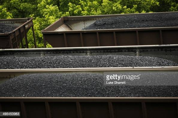 Transportation coal trains sit in a rail yard on June 3 2014 in Printer Kentucky New regulations on carbon emissions proposed by the Obama...