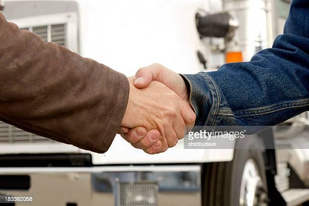 Transport Hände schütteln