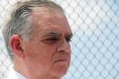 S Transportation Secretary Ray LaHood attends a news conference at the Hudson Yards site in Manhattan on May 30 2013 in New York City LaHood said...
