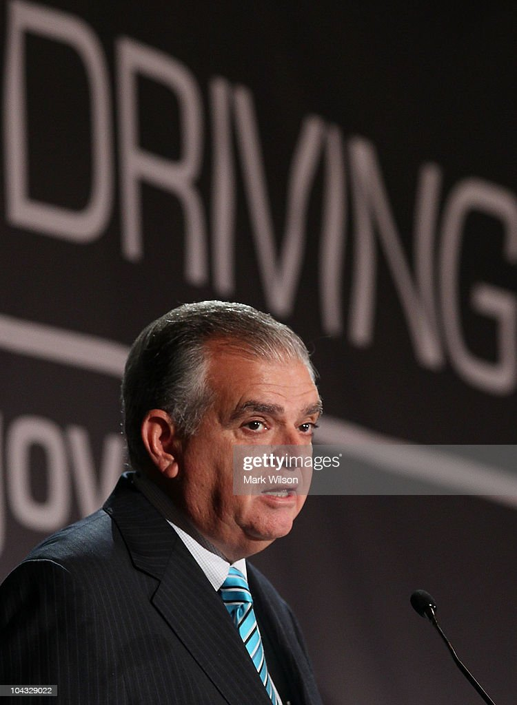 Transportation Secretary Ray LaHood Addresses Summit On Distracted Driving
